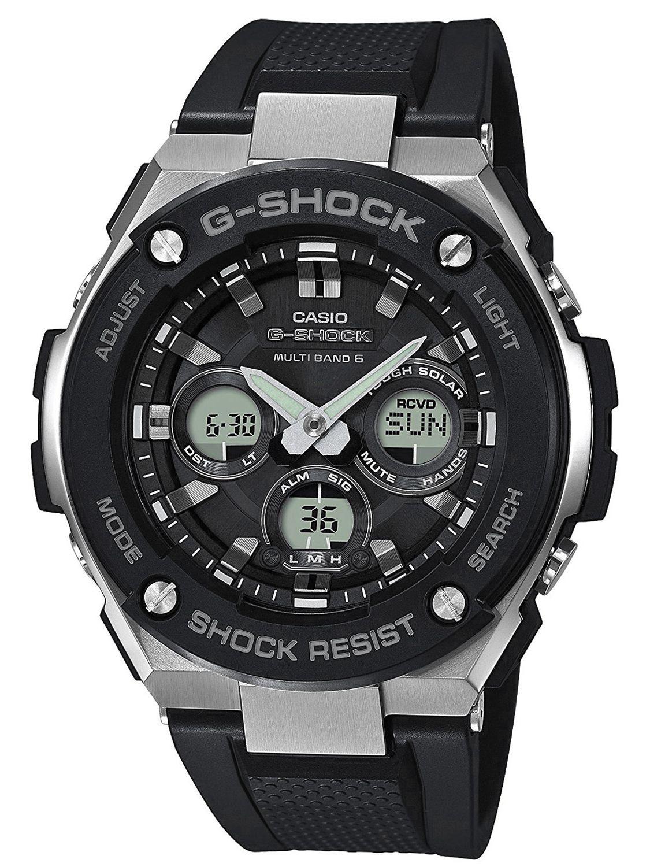 980b9d65828c9 Casio GST-W300-1AER G-Shock Steel RC Solar Watch Image 1 ...