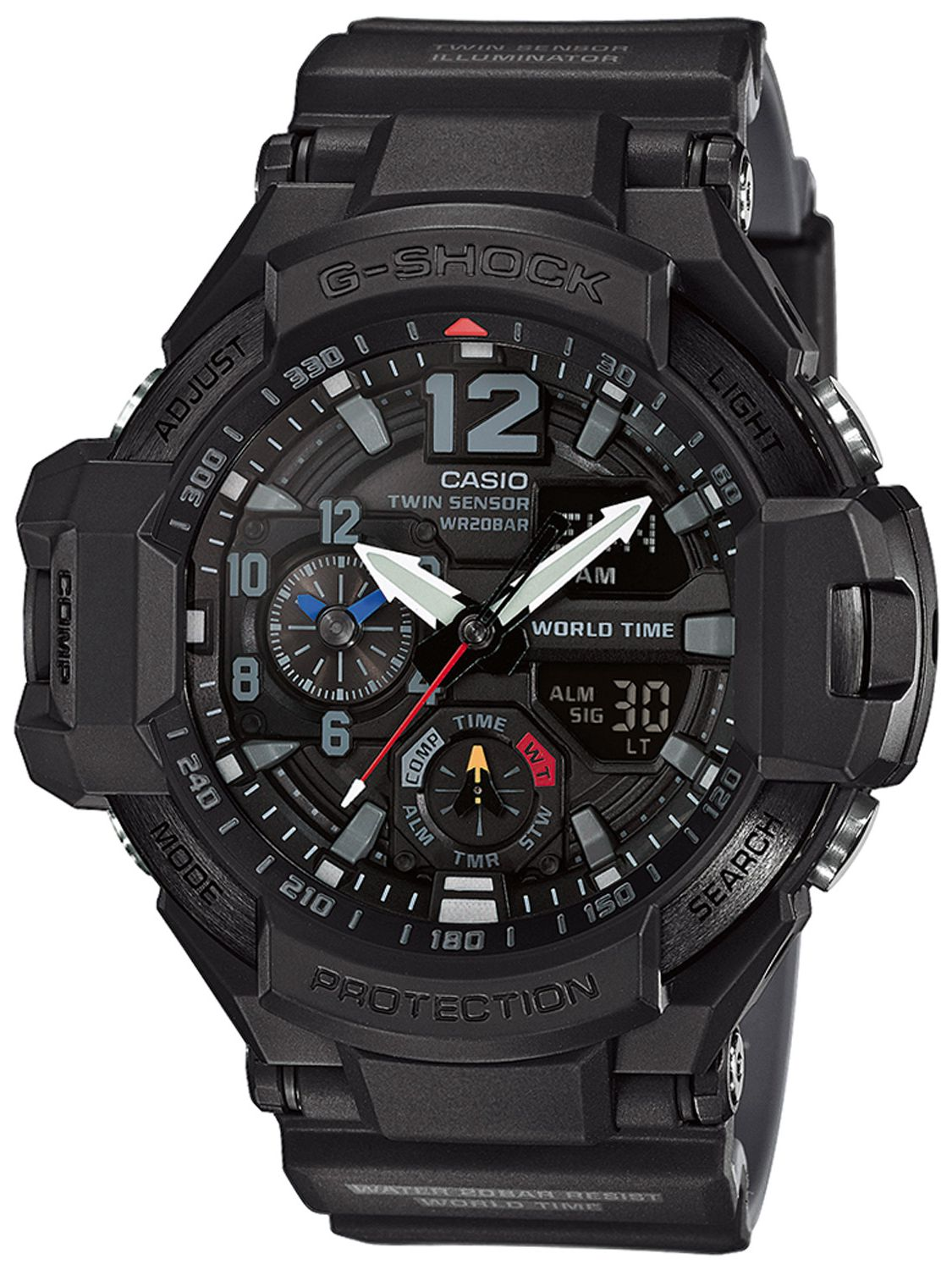 f02807207122 Casio GA-1100-1A1ER G-Shock Mens Watch Gravitymaster Image 1 ...
