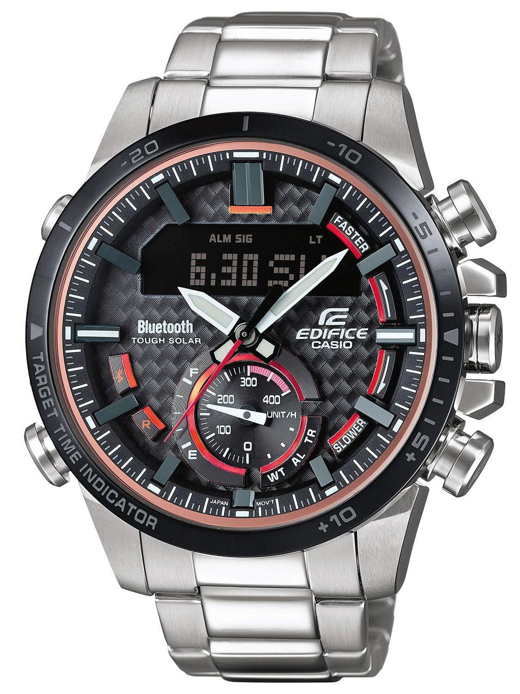 aa6f29617 Casio ECB-800DB-1AEF Edifice Men's Chronograph Solar Watch Bluetooth Image  ...