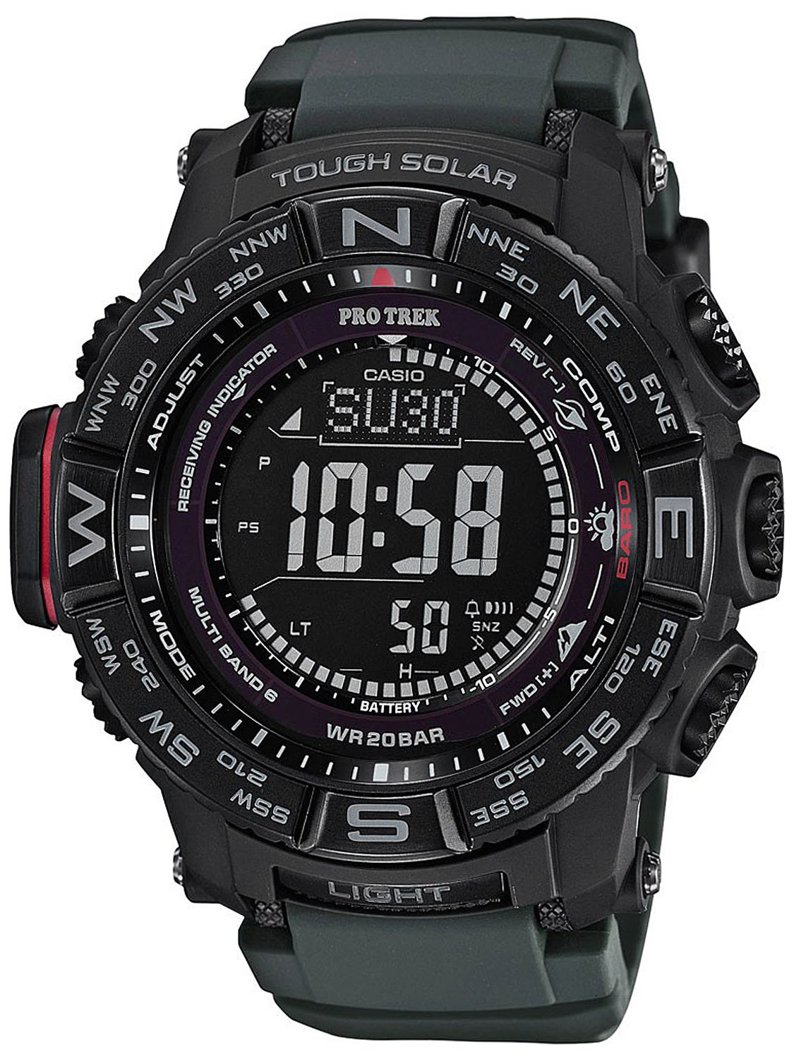 2ac064140486 Casio PRW-3510Y-8ER Pro Trek Outdoor Digital Solar RC Watch Monte Rosa  Image ...