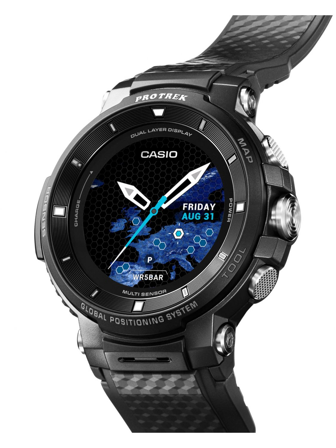 casio pro trek smart outdoor uhr gps schwarz wsd f30 bkaae. Black Bedroom Furniture Sets. Home Design Ideas