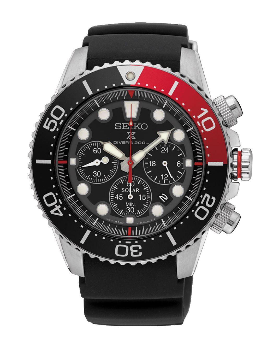 Seiko Mens Watch Prospex Diver Solar Chronograph Ssc617p1
