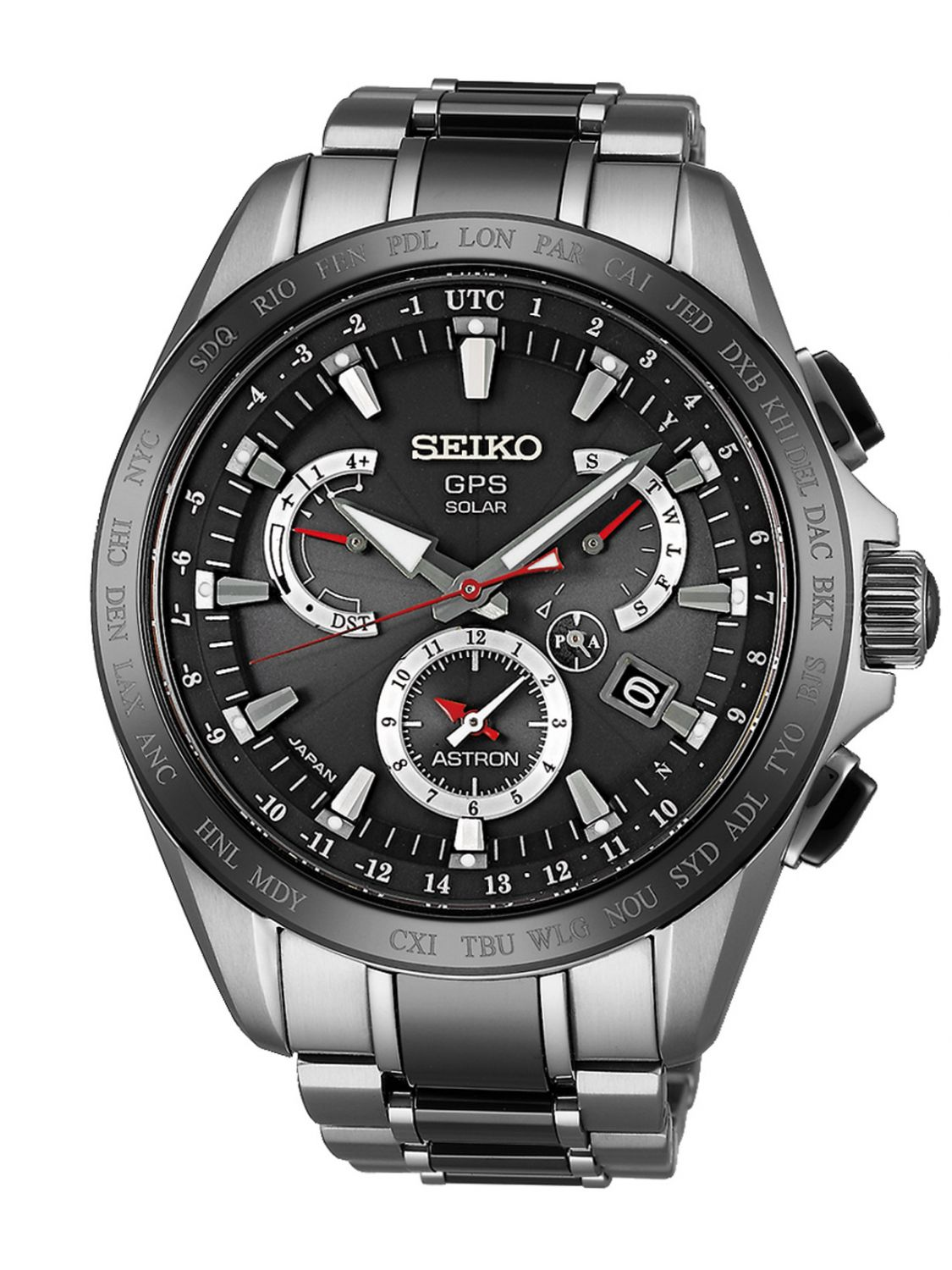 Seiko SSE041J1 Astron GPS Solar Dual Time Mens Watch Image 1 ... 31b0df22160a