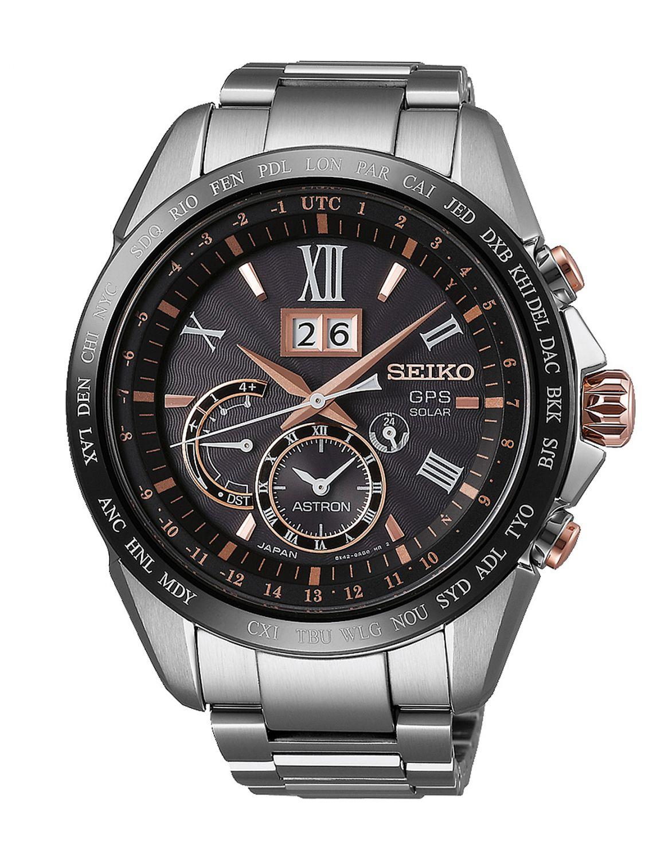 d3639bb9f Seiko SSE151J1 Astron GPS Solar Dual Time Big Date Mens Watch Image 1 ...