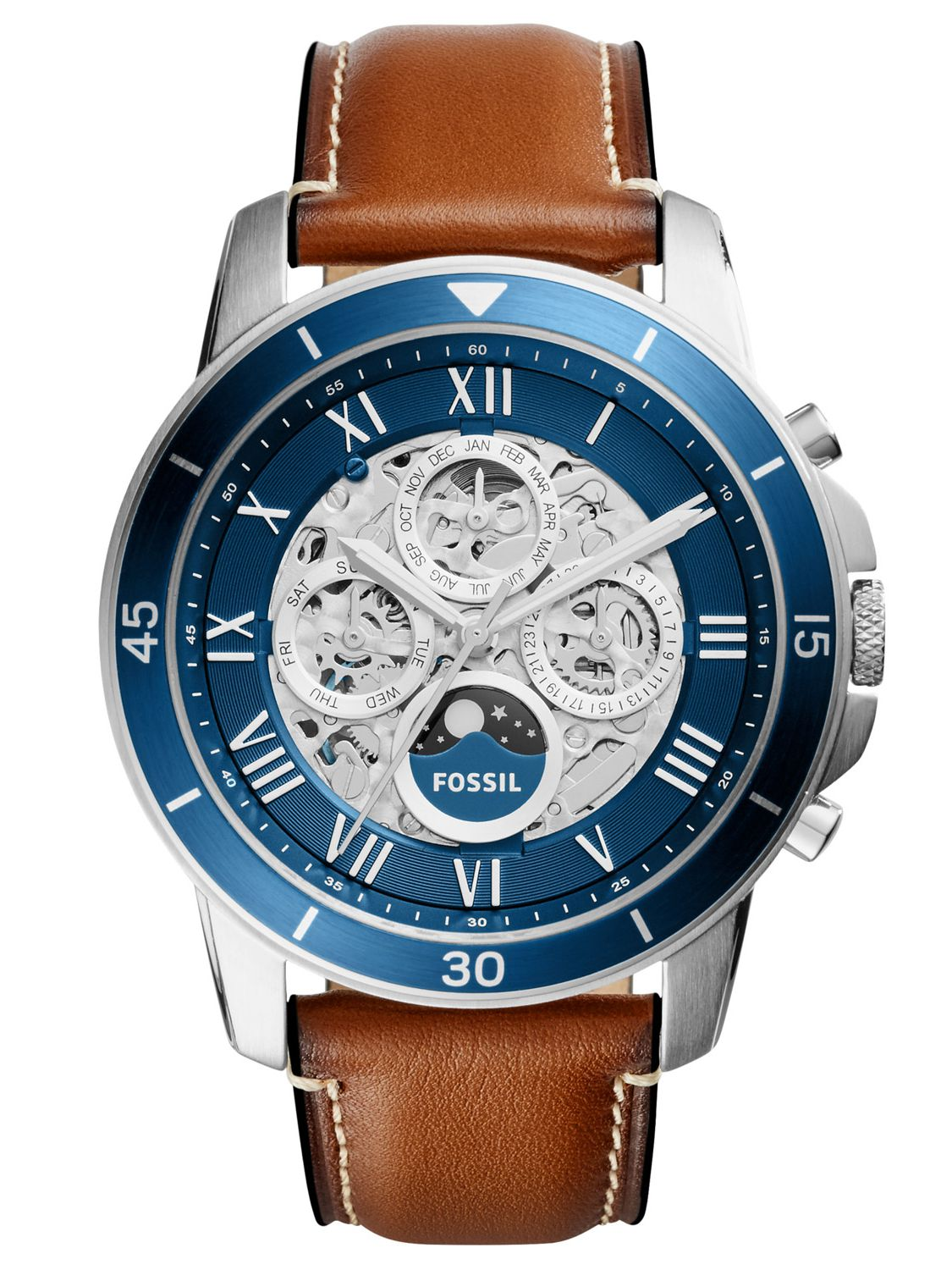 a06a7d72132 Fossil ME3140 Multifunction Mens Automatic Watch Grant Sport Brown Image 1  ...