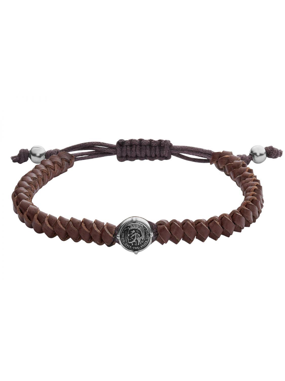 Diesel DX1044040 Mens Leather Bracelet Stackables Brown Image 1 ... bd5826447ae7