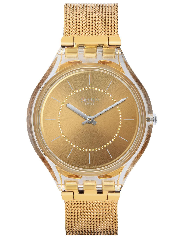 Uhren & Schmuck Swatch New Skin Small Skincarat Svok100m Damenarmbanduhr Swiss Made