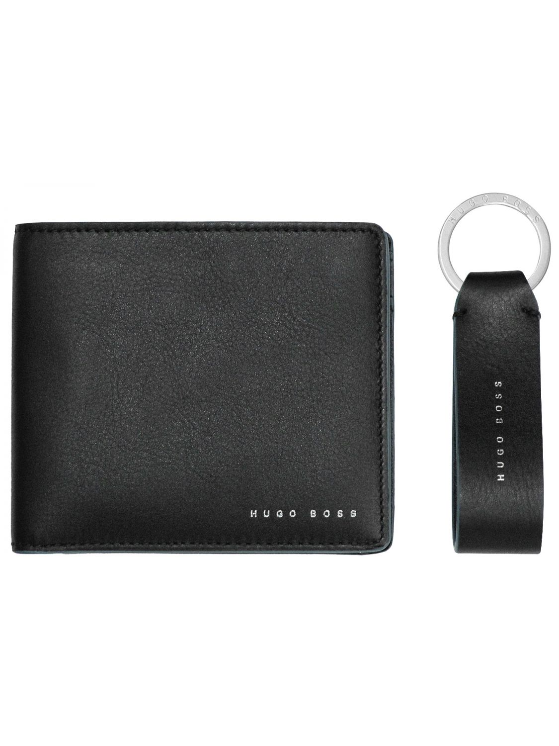 Boss 50397501 Men s Gift Set Wallet and Keyring Pendant Black Image ... 10571e2627