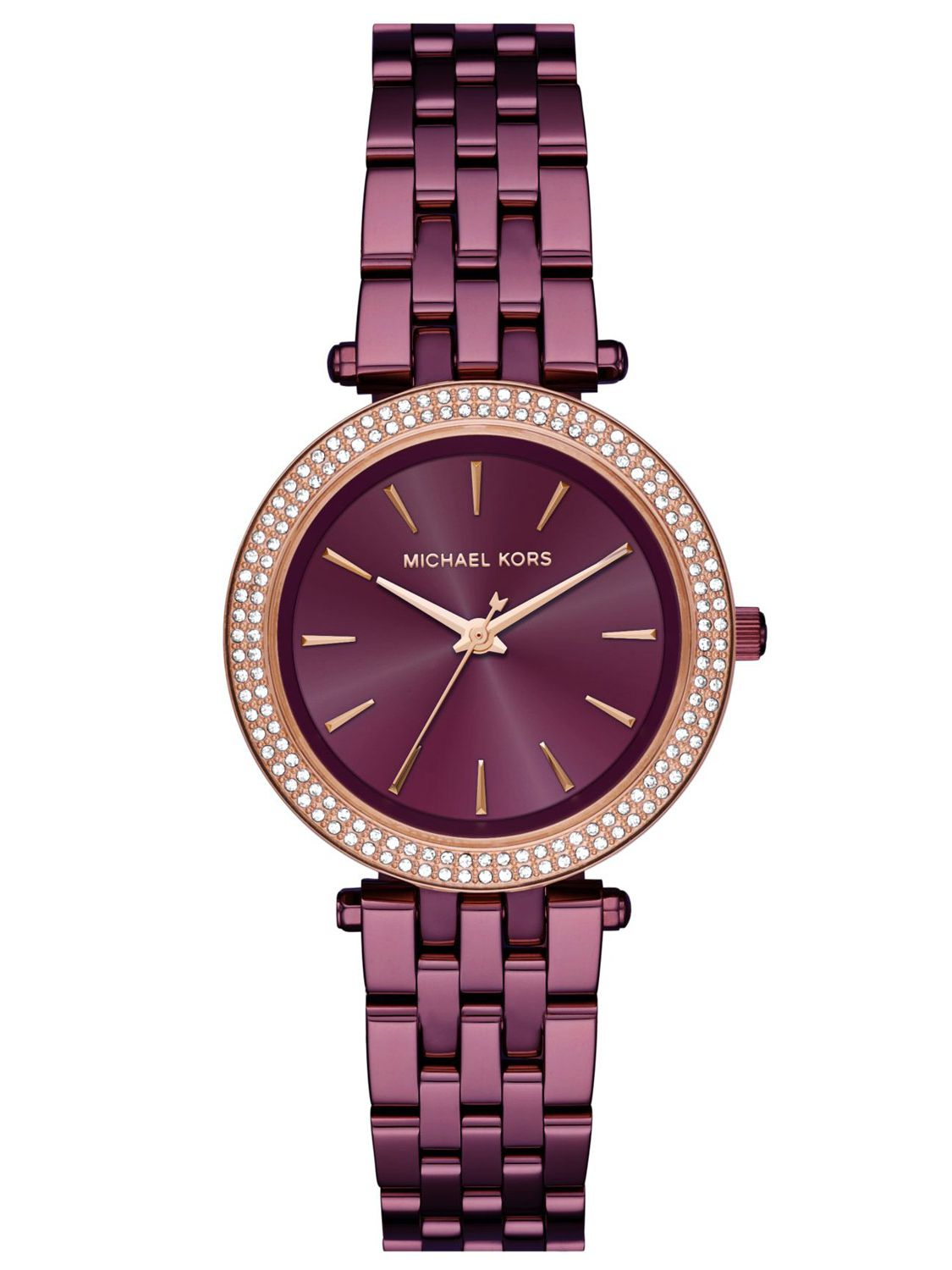 f068401054e5b Michael Kors MK3725 Ladies Watch Mini Darci Purple Image 1 ...