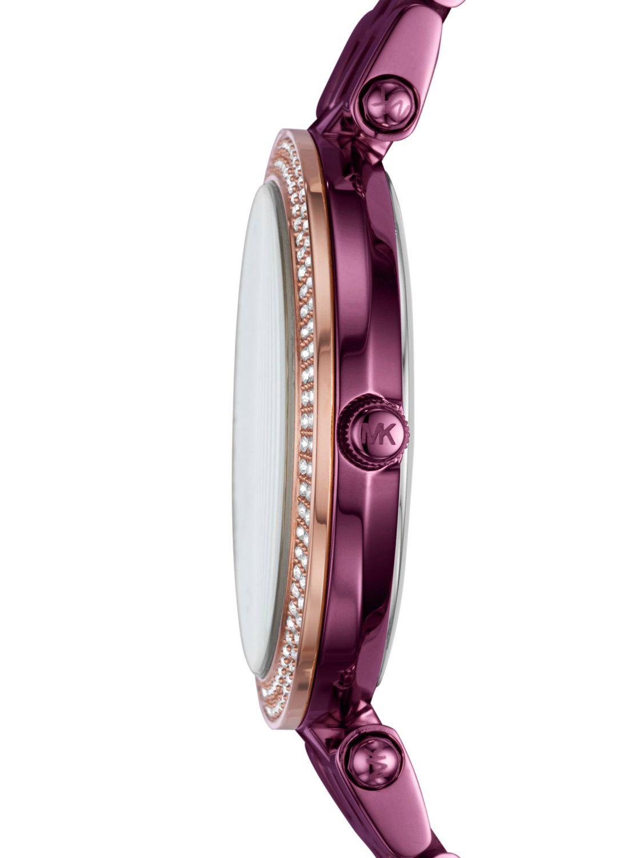 c70f80b4827b ... Michael Kors MK3725 Ladies Watch Mini Darci Purple Image 2 ...