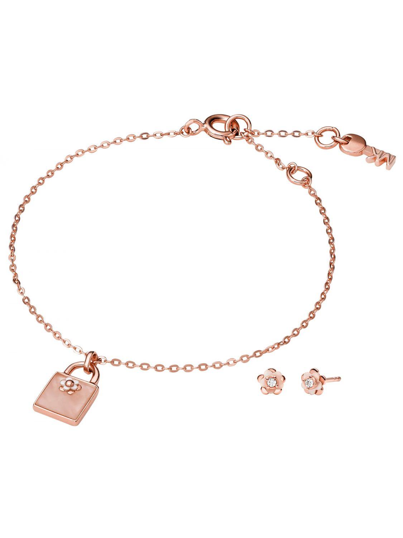 4741d49548d5 Michael Kors MKC1194AB791 Jewellery Set Bracelet and Earrings Flower Image  1 ...