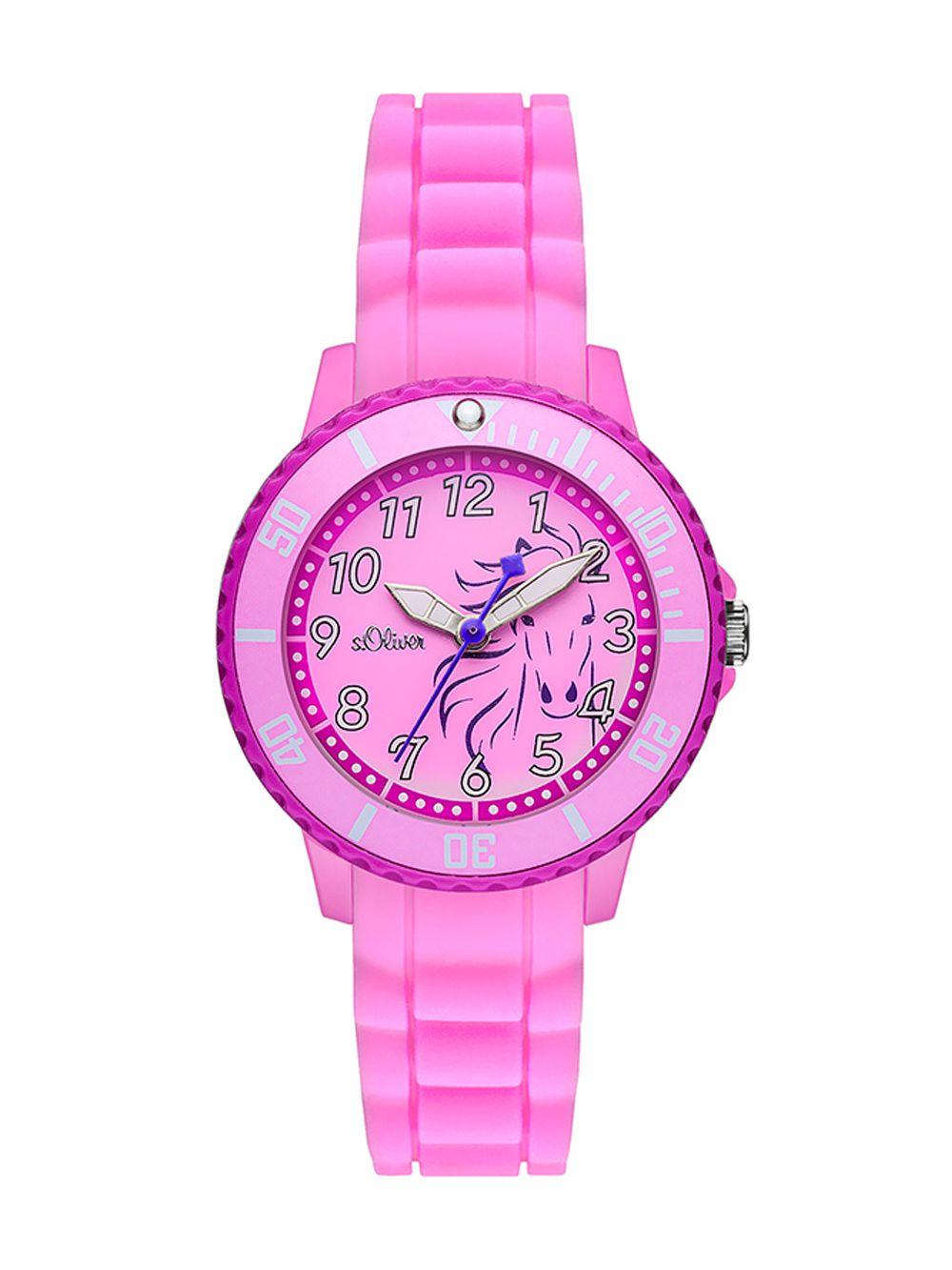 d6da8f5dc3f7b0 S.OLIVER Girls Watch Pink Horse SO-2987-PQ • uhrcenter