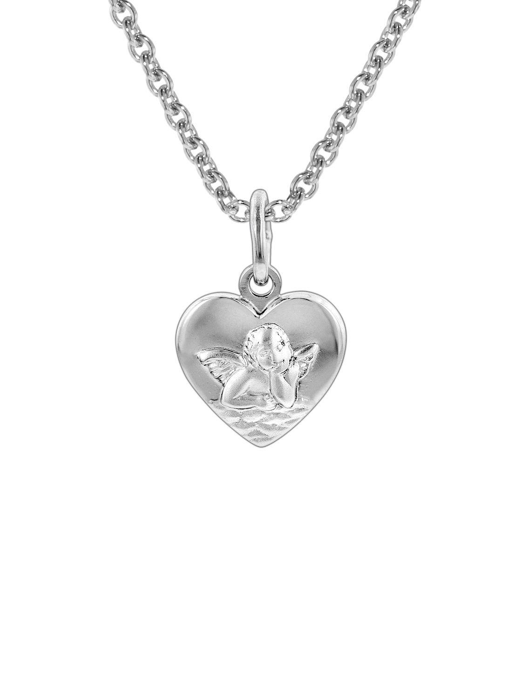 trendor 78858 Silberkette Herz-Anhänger mit Schutzengel für Kinder Bild 1  ... b9ae095538
