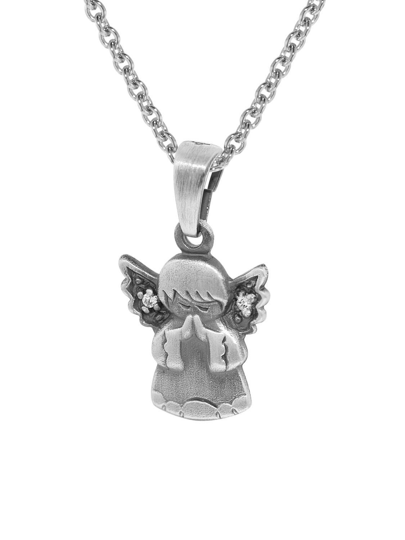 trendor 35872 Silberkette mit Engel-Anhänger für Kinder Bild 1 ... d54450c98d