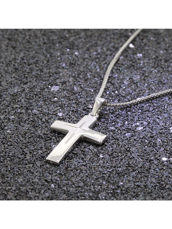 c16f6c700fa2 ... trendor 83624 Silber-Herrenkette mit Kreuz Bild 3 ...