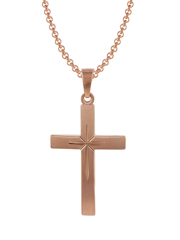 6019f3819541 trendor 79503 Silber Herrenkette mit Kreuz-Anhänger Bild 1 ...