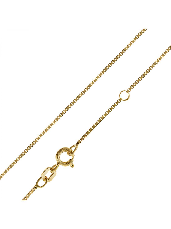 trendor damen silber halskette gold plattiert 42 40 cm 35913. Black Bedroom Furniture Sets. Home Design Ideas
