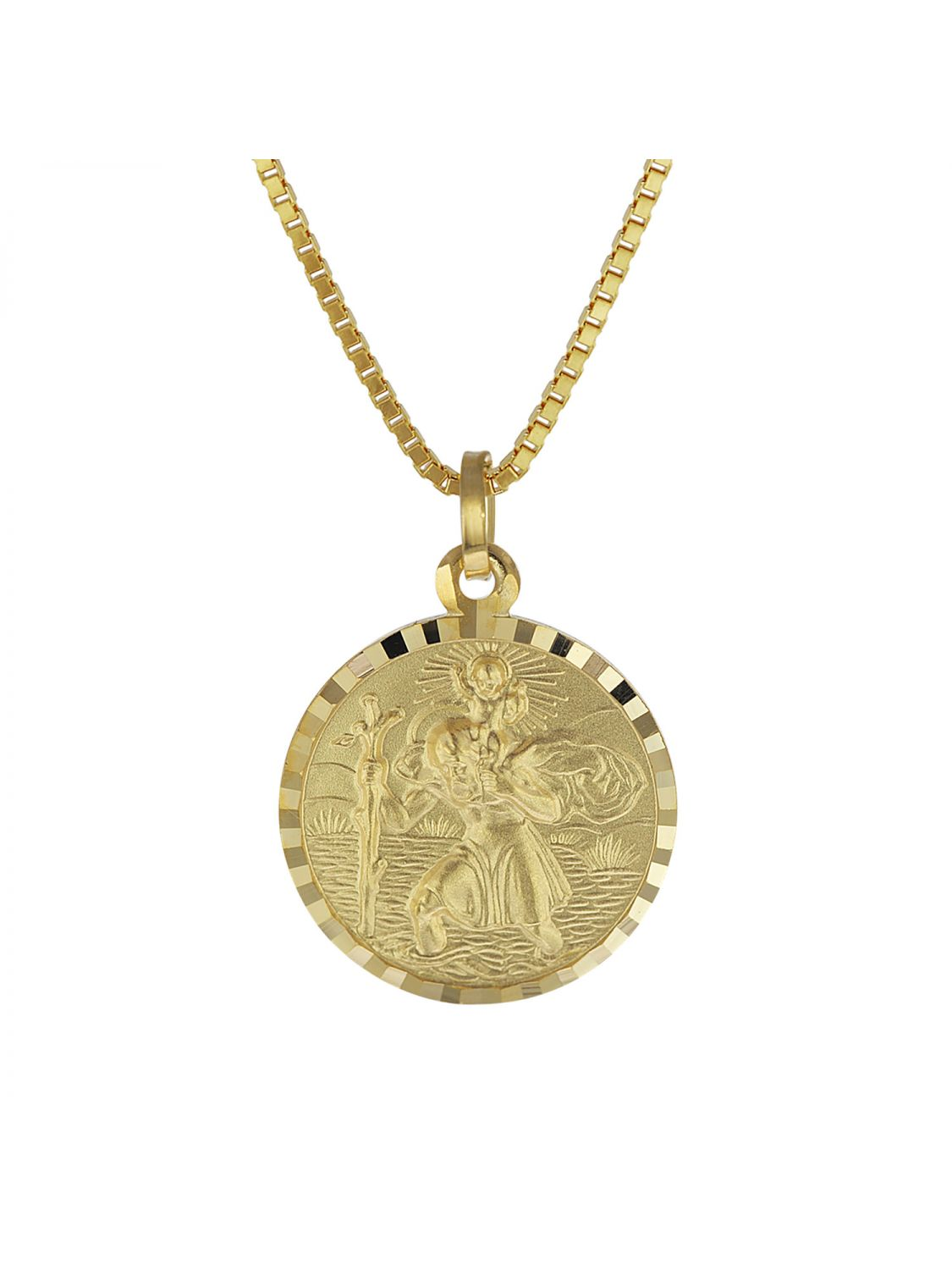 ff84f1fe6c7 trendor 08520 St. Christopher Gold Pendant with Gold Plated Mens Necklace  Image 1 ...