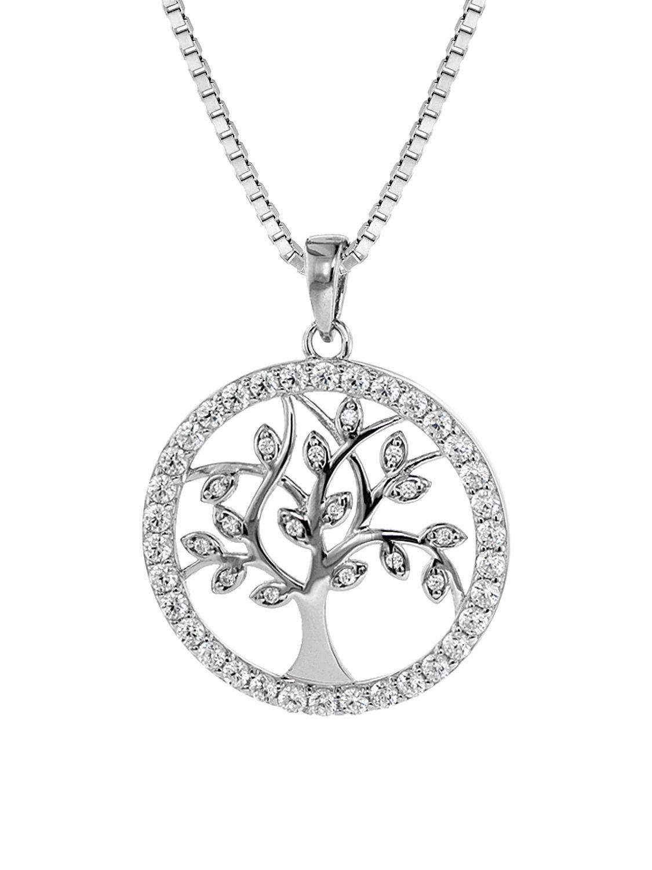 trendor 08544 Damen-Silberkette mit Lebensbaum-Anhänger Bild 1 ... 59e8bda825
