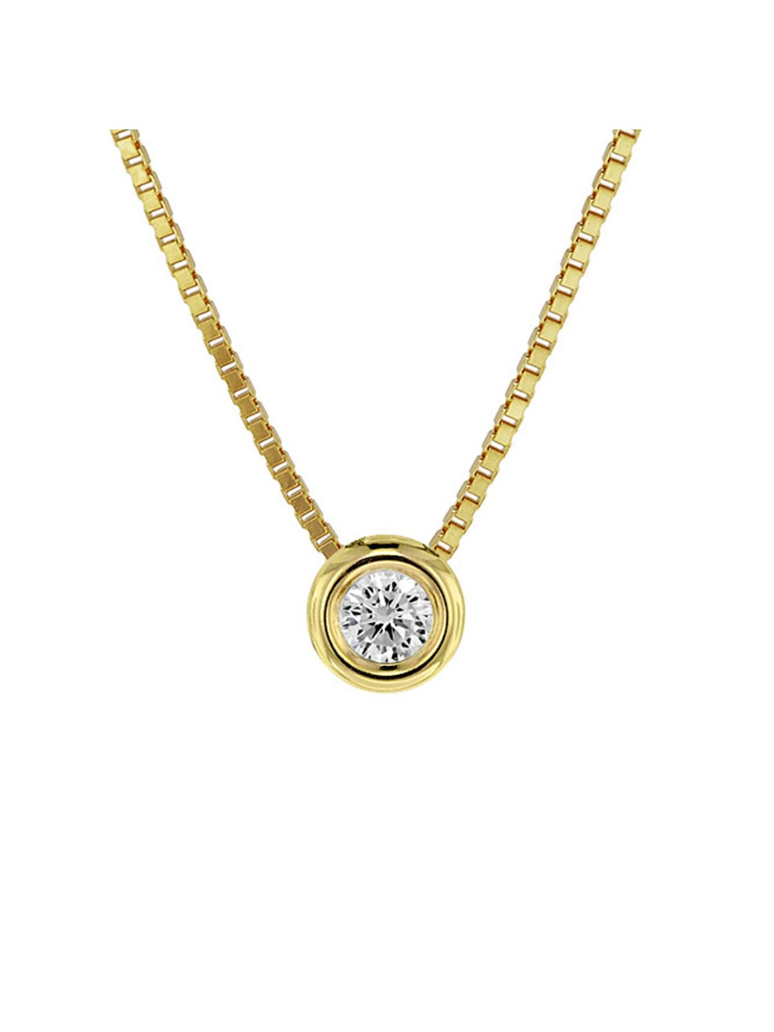 7590787e902 trendor Zirconia Pendant Gold 333/8 ct Ladies Necklace Set 08946