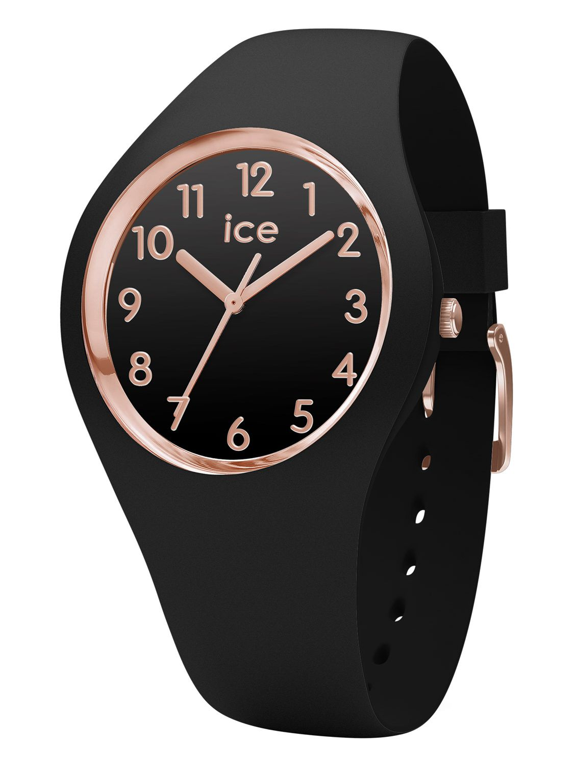 78501d49e813cc Ice-Watch 014760 Ice Glam Black Rose Gold Watch S