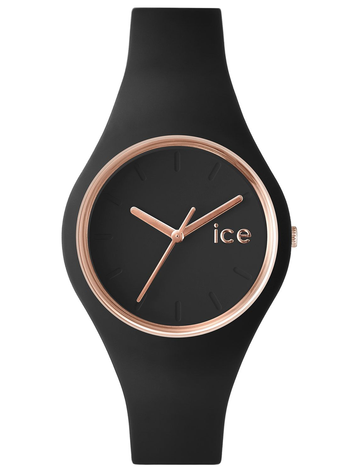 ice watch damenuhr ice glam schwarz ros gold m 000980. Black Bedroom Furniture Sets. Home Design Ideas