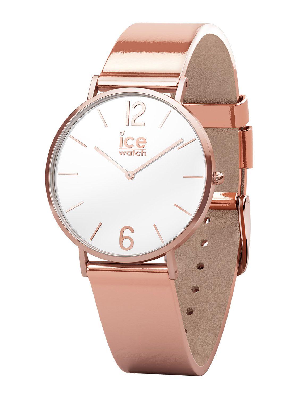 Ice Watch Ladies Quartz Watch City Sparkling Metal Rose Gold Xs 015085