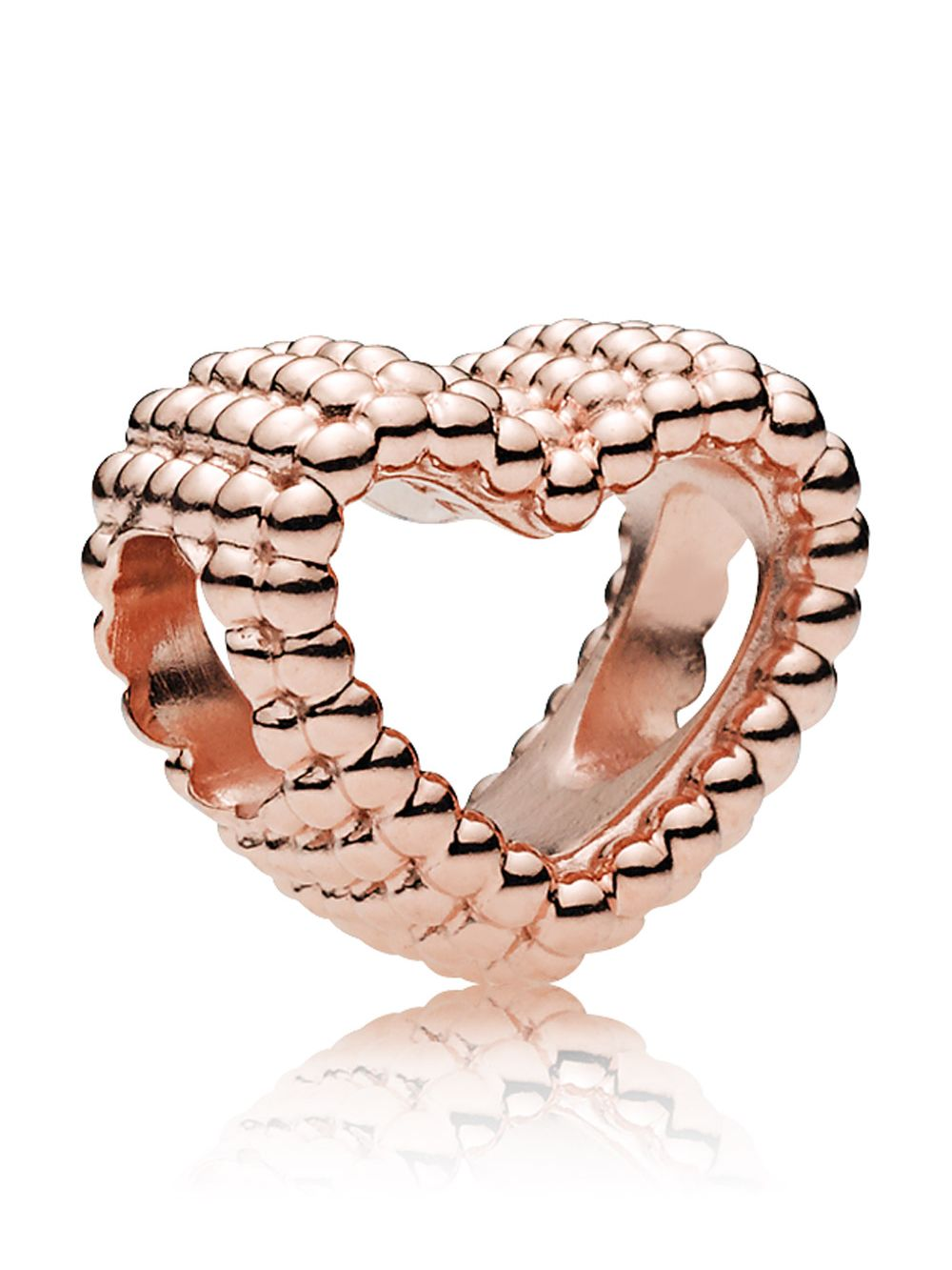 19d4df558 Pandora 787516 Rose Beaded Heart Charm Image 1 ...