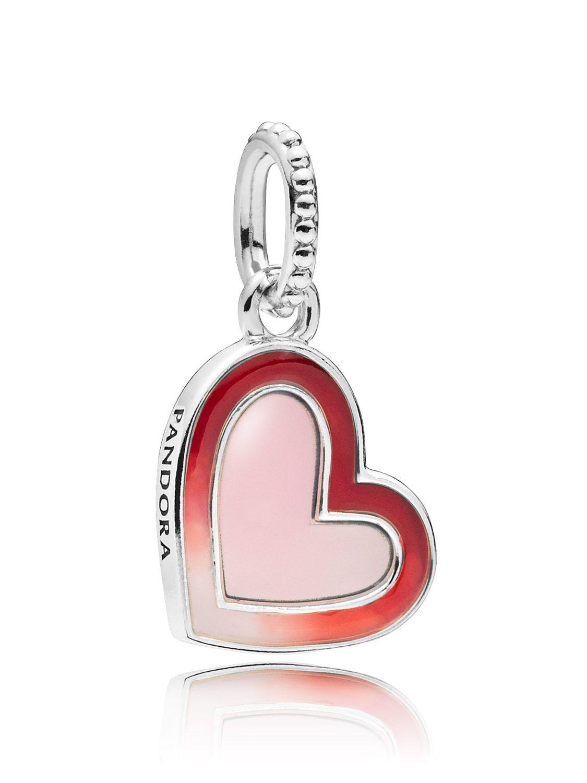 0c472737a Pandora 797820ENMX Charm Pendant Asymmetric Heart of Love Image 1 ...
