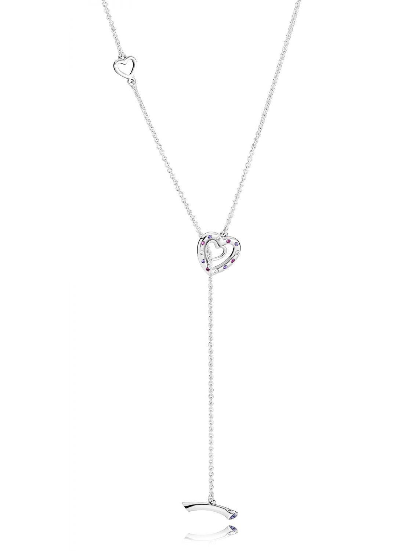 ecde85da0 ... new zealand pandora 397756nrpmx ladies necklace bright hearts image 1  f8925 5f2cc reduced pandora pandora sterling silver ...