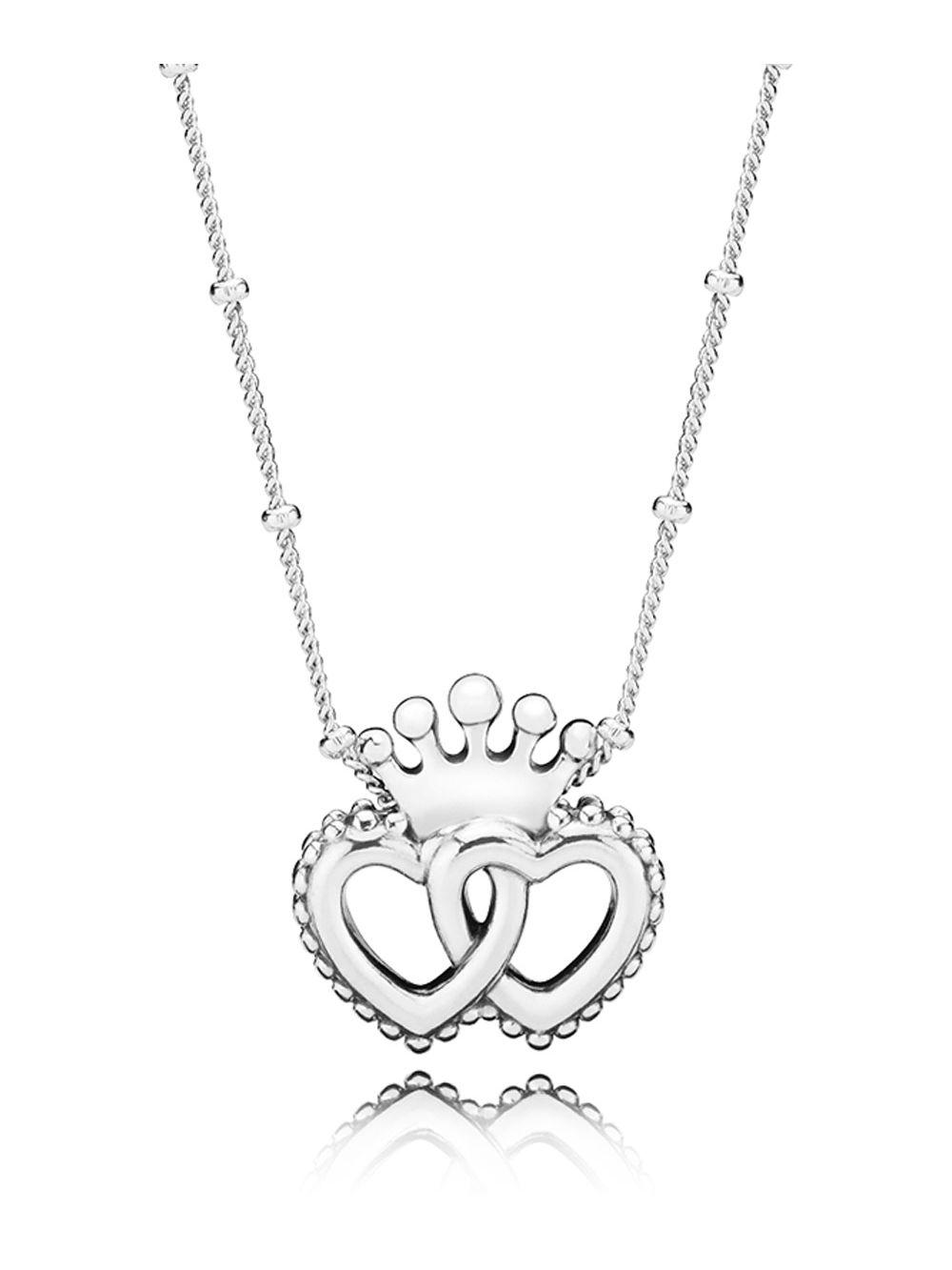 0afc34190 ... where can i buy pandora 397719 45 ladies necklace united regal hearts  ff114 d7da5 ...