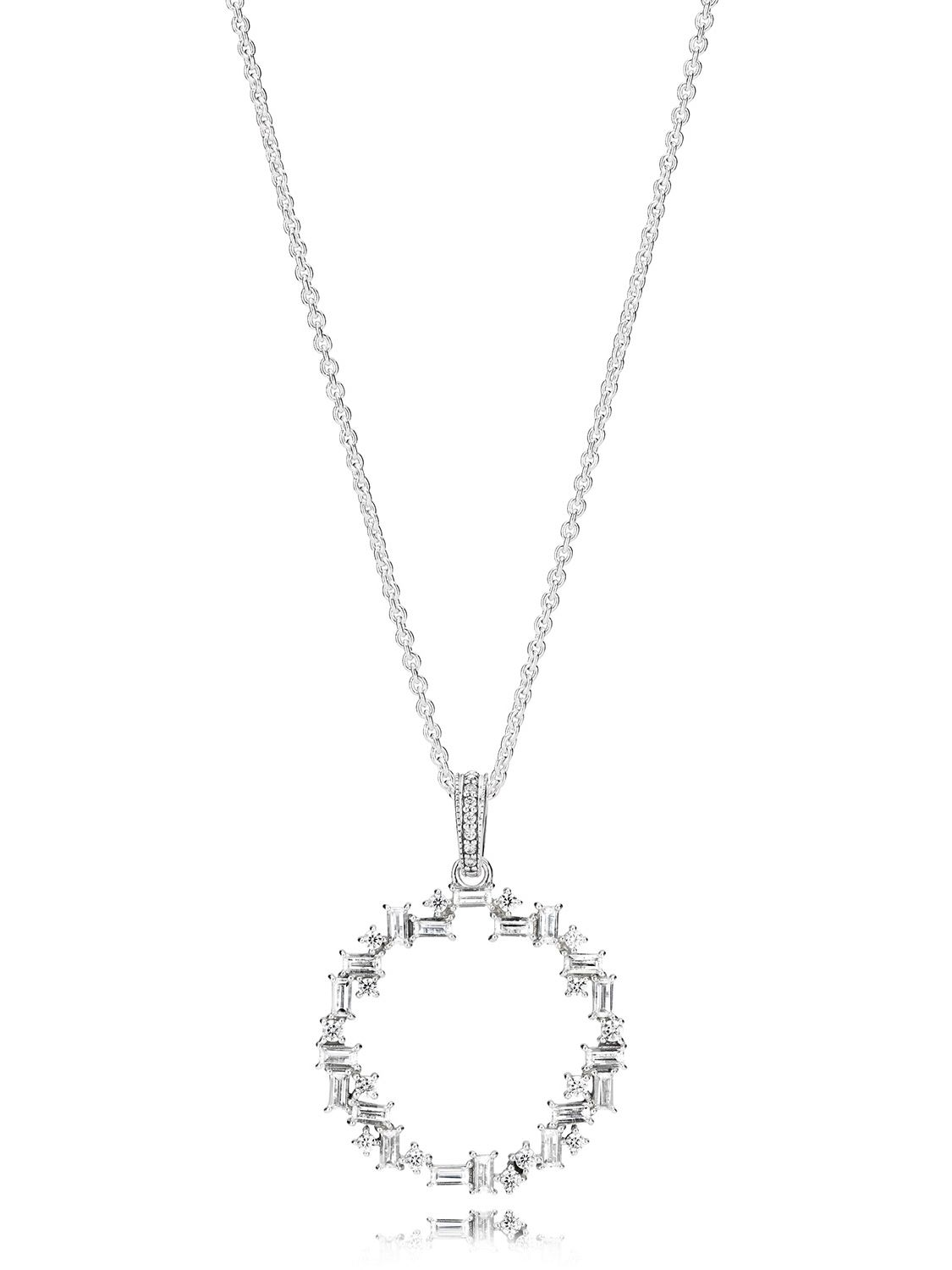 7e1746add Pandora 397546CZ-45 Ladies' Necklace Shards of Sparkle Image 1; Necklace  length ...