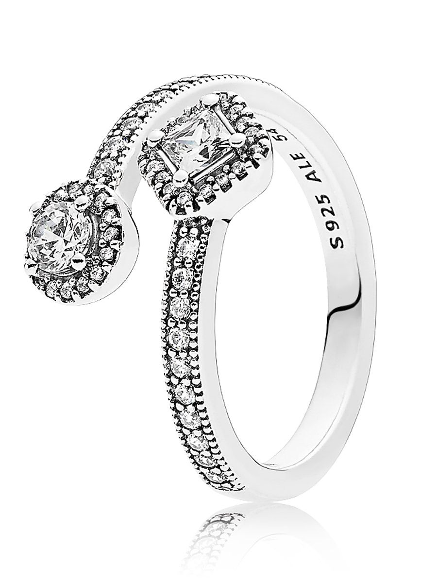 591a7a94e Pandora 191031CZ Ladies Ring Abstract Elegance Image 1 ...