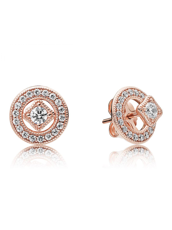 78ec53aa9 Pandora 280721CZ Rose Ladies' Ear Studs Vintage Allure Image ...