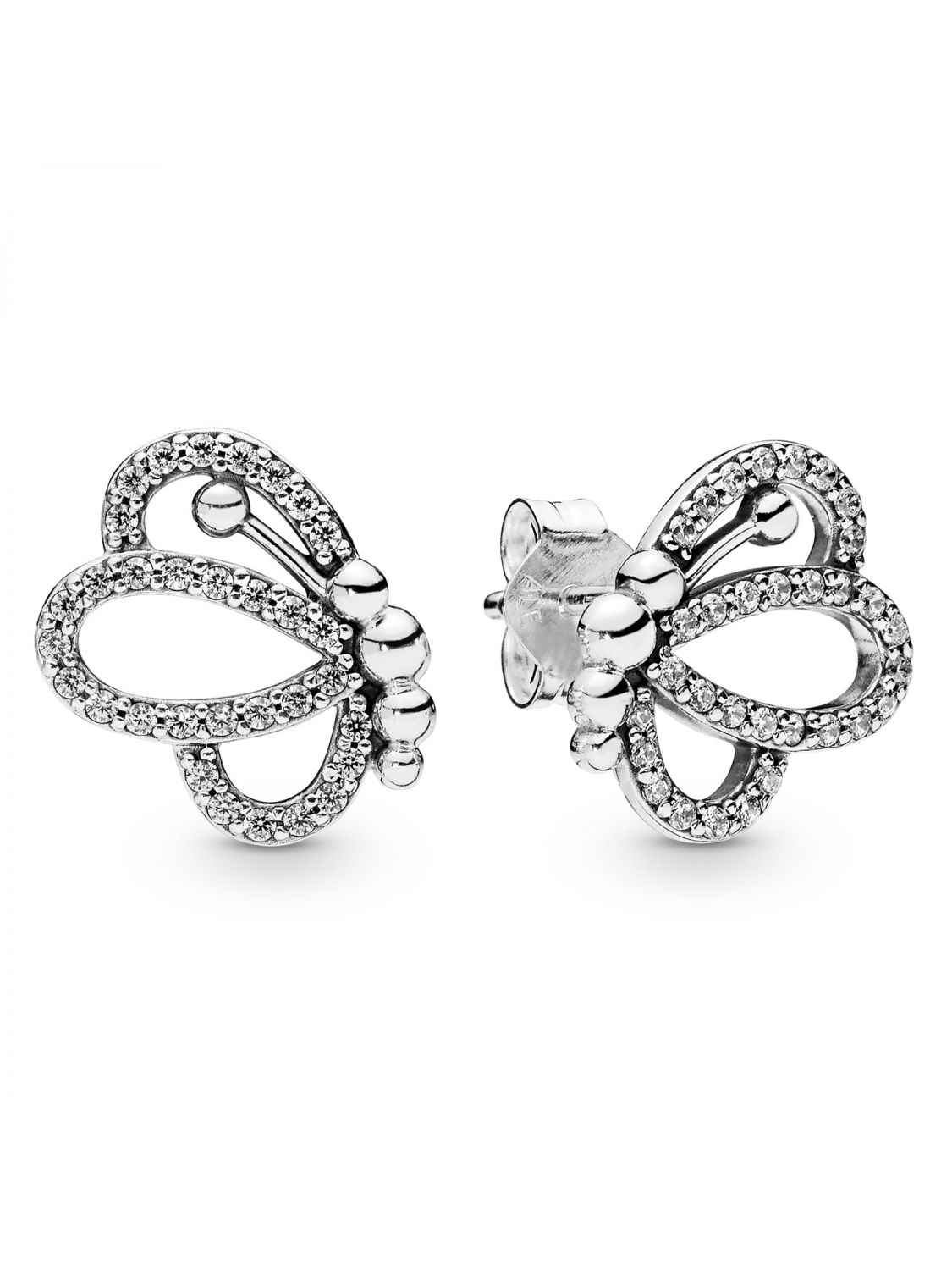 412382299 Pandora 297912CZ Ladies´ Earrings Butterfly Outlines Image 1 ...