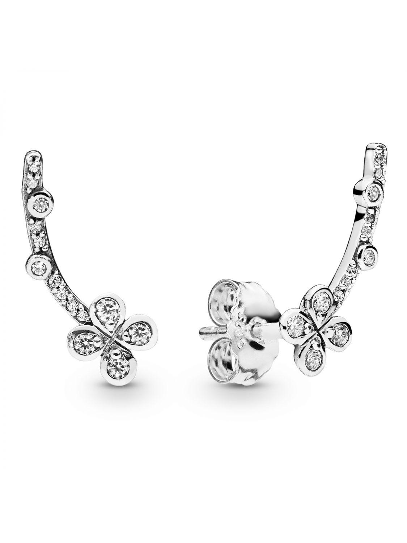 b31cb8181b75 PANDORA Ladies´ Earrings Draped Four-Petal Flowers 297936CZ