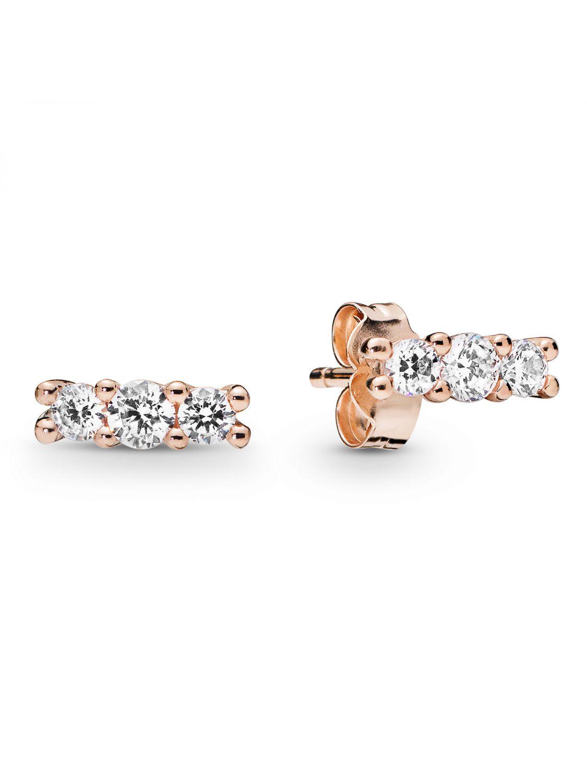 3f2e040f3 Pandora 280725CZ Rose Ladies´ Ear Studs Sparkling Elegance Image 1 ...