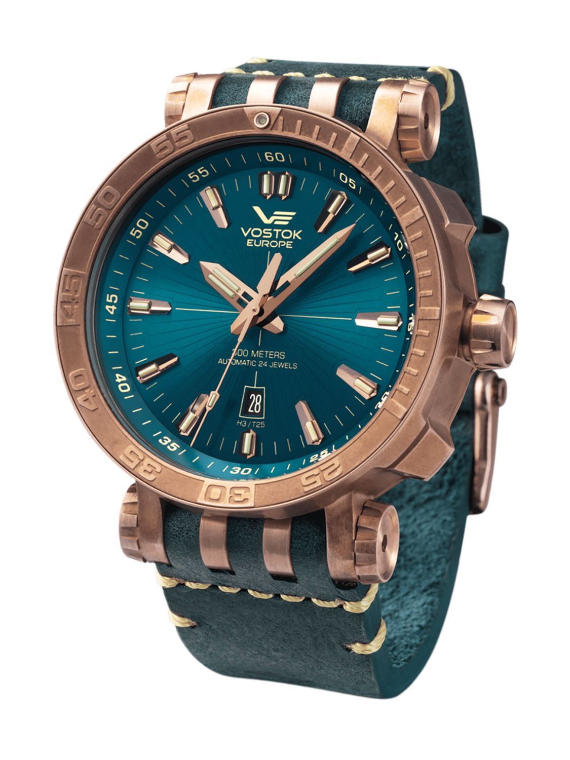 96a42aacd7cc Vostok Europe Automatic Mens Watch Energia Rocket Bronze NH35A-575O286