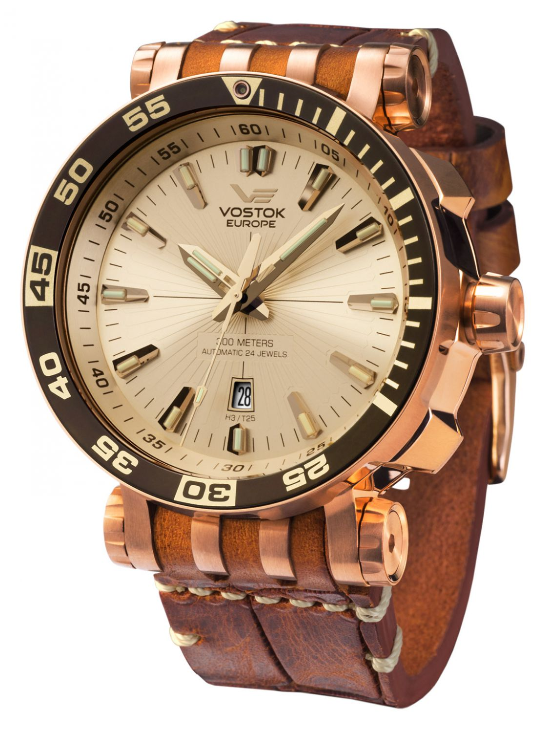 e7c4897f00bc Vostok Europe Mens Automatic Watch Energia Rocket NH35A-575B281