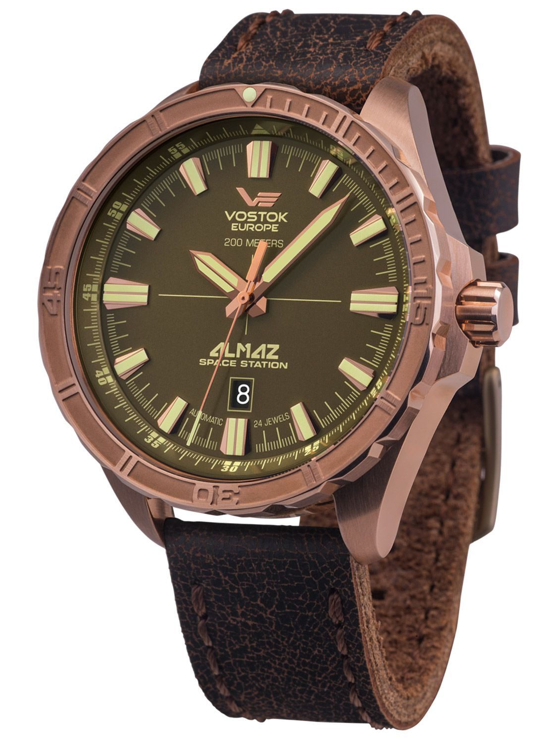 56d9012f1b0b Vostok Europe NH35A-320O516 Mens Automatic Watch Almaz Bronze Image 1 ...