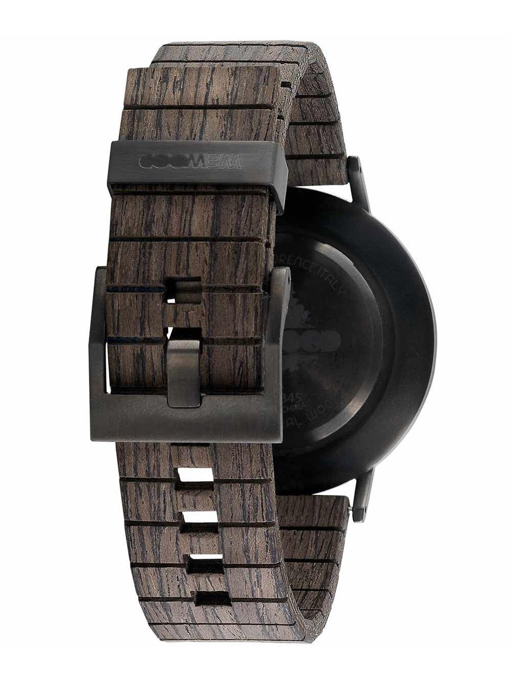 cd817453f73 ... WeWood WW63002 Wooden Wrist Watch Albacore Gun Black Oak Image 3 ...