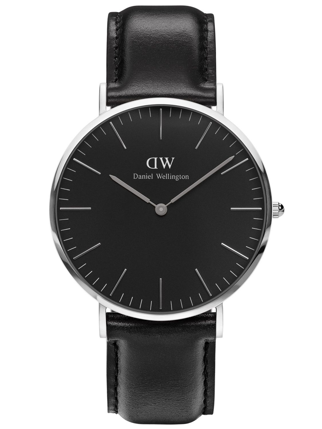 daniel wellington herrenuhr sheffield silber 40 mm dw00100133. Black Bedroom Furniture Sets. Home Design Ideas