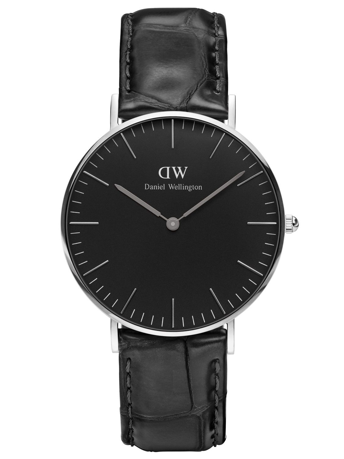 daniel wellington damenuhr reading silber 36 mm dw00100147