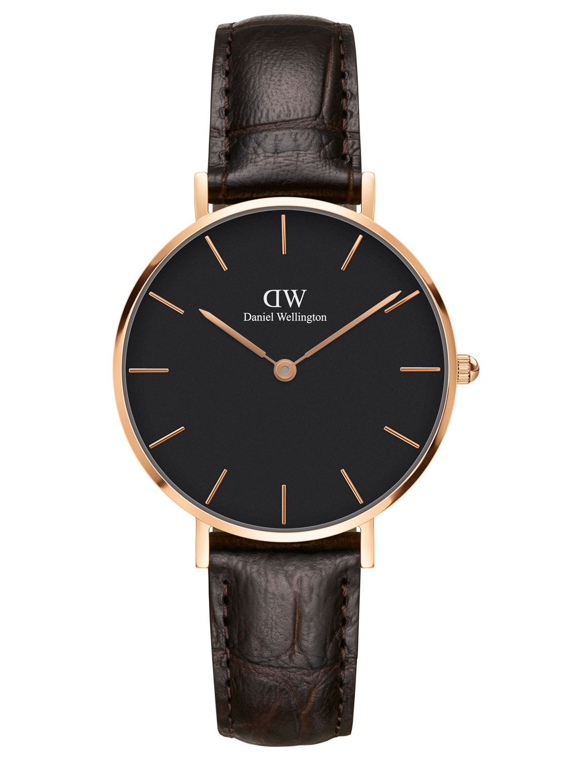 6d7454ac3b71d Daniel Wellington DW00100170 Ladies Watch Classic Petite York Black Rosegold  32 mm Image 1 ...