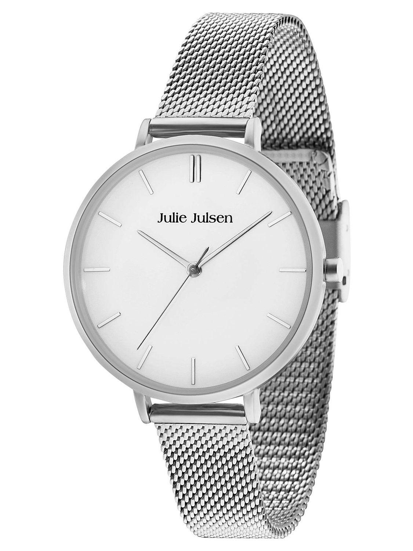 Julie Julsen JJW10SME Ladies  Watch Pure Silver Mesh Image ... 601261afa3f