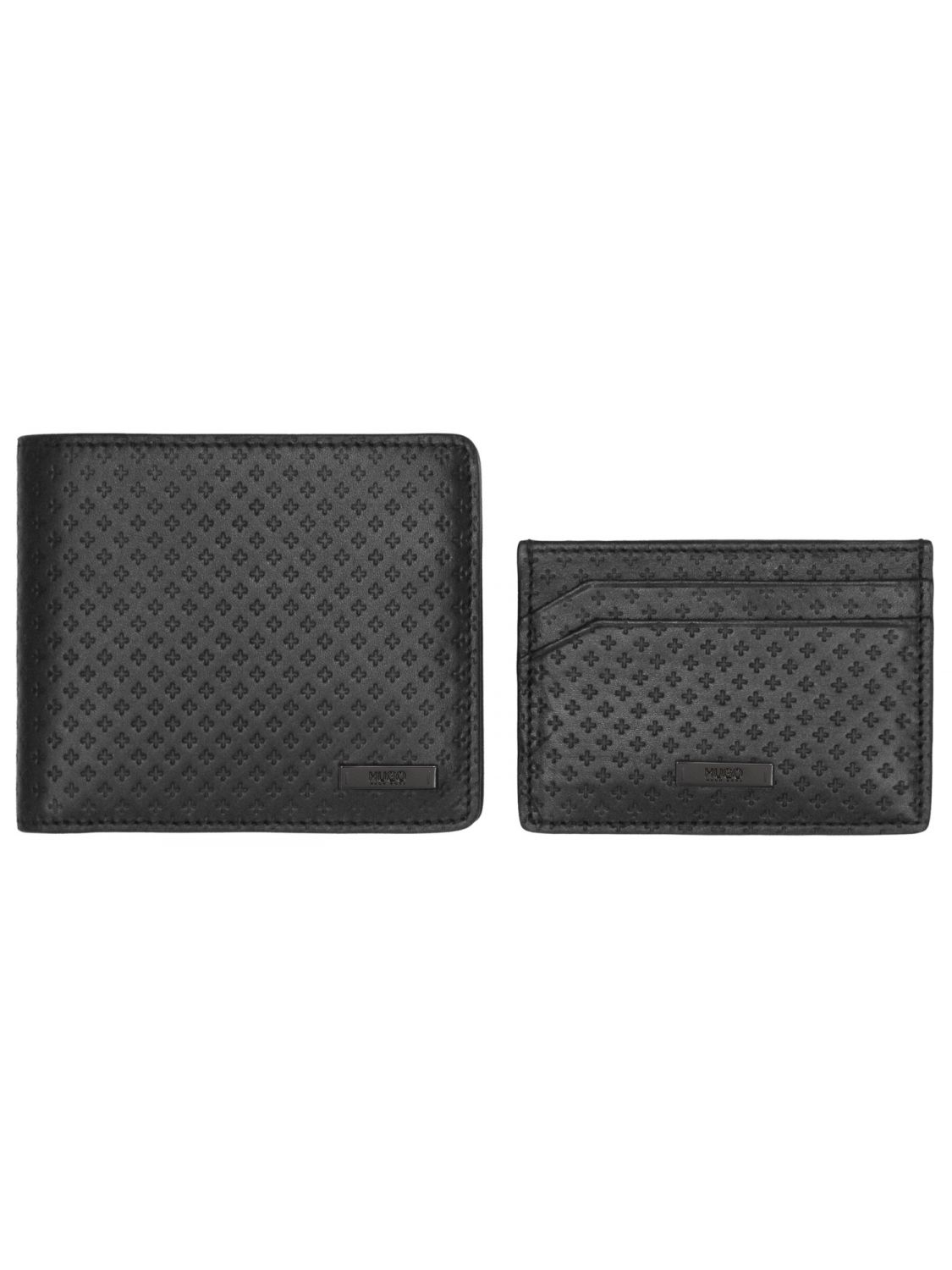 HUGO 50328001 Mens Wallet Set Black • uhrcenter 3b580fa984