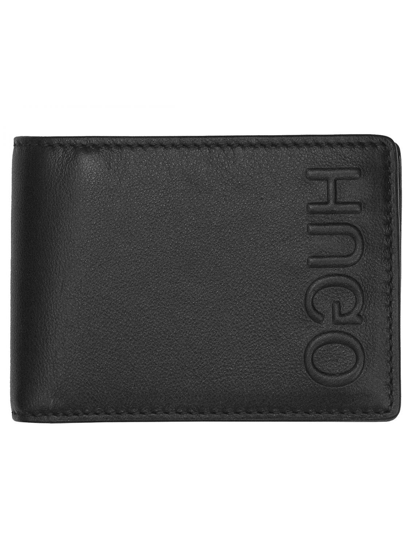 5f4f68035f8 HUGO 50397402 Men's Leather Wallet Bolster Black • uhrcenter