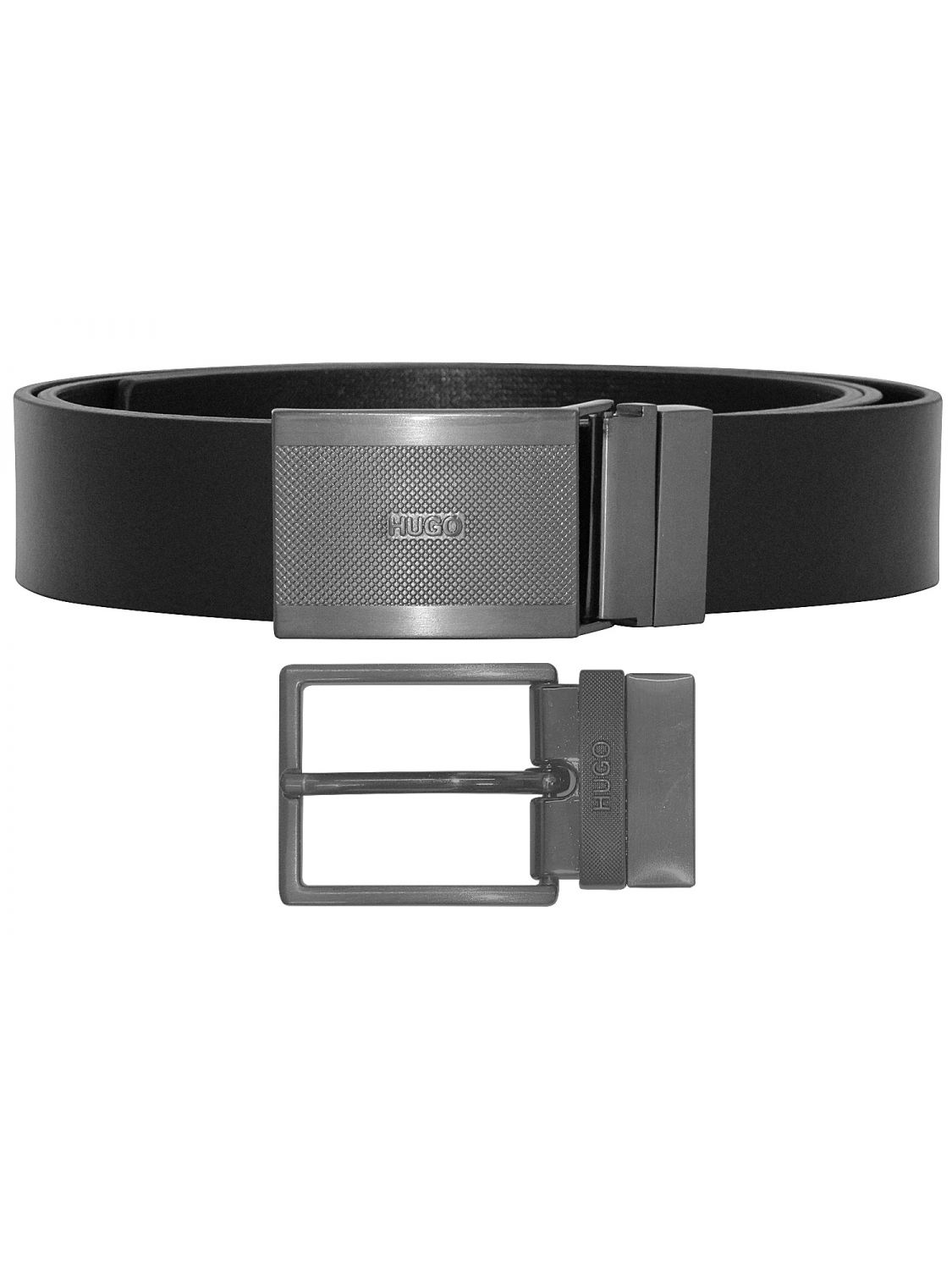 Hugo 50397537 Leather Men s Reversible Belt Gino Black Image ... 3ed9302977
