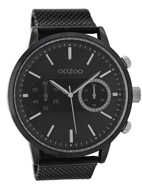 OOZOO Mens Watch with Chrono Look Black 49 mm C9074 9b636323903