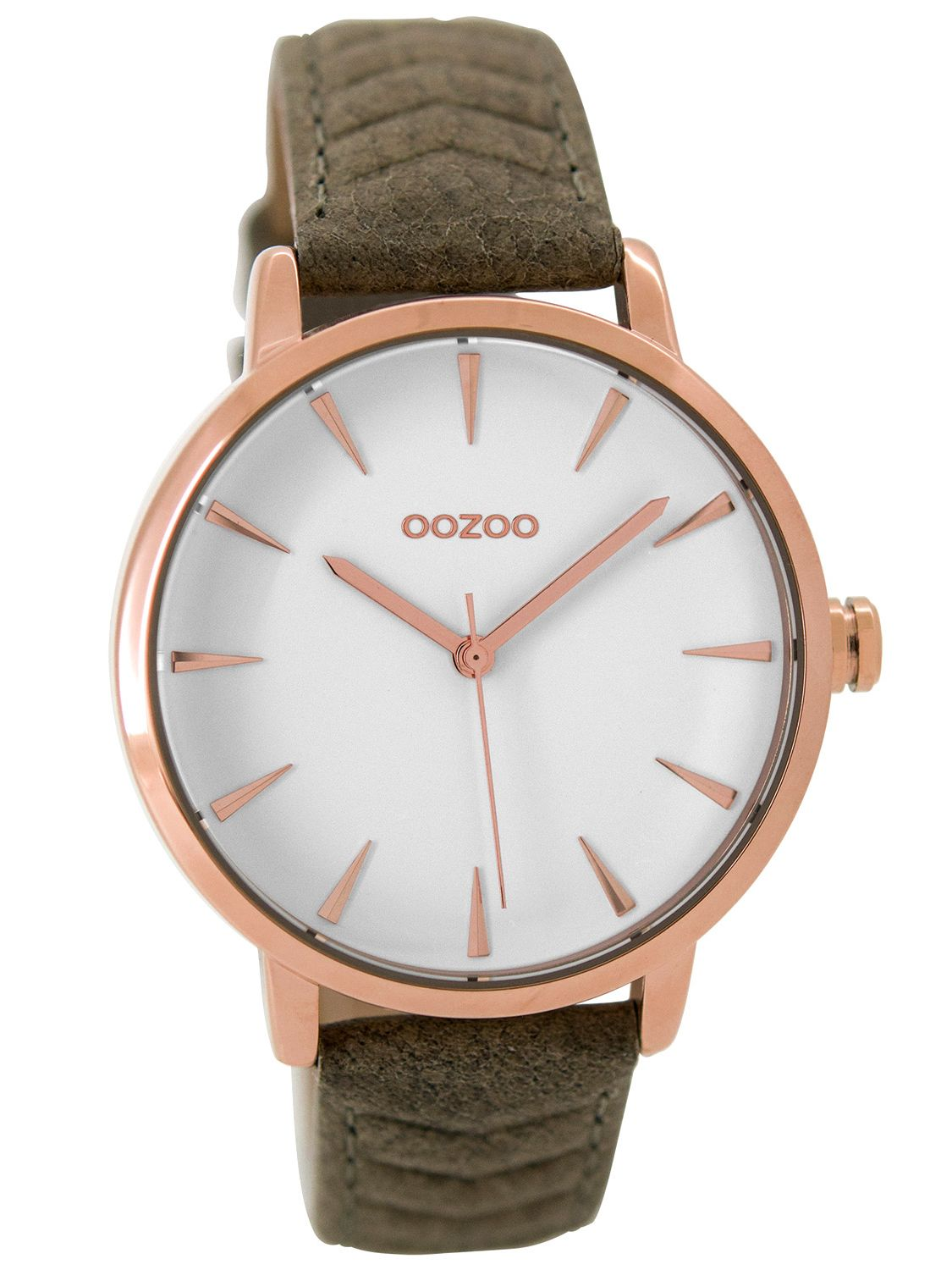 be0c78b1853cd OOZOO Ladies Watch with Leather Strap rose khaki 40 mm C9509